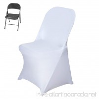 Efavormart 5PCS Stretchy Spandex Fitted Folding Chair Cover Dinning Event Slipcover For Wedding Party Banquet Catering - White - B06X1GTGZG