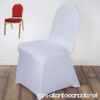 Efavormart White Spandex Chair Cover For Wedding Event Party--PACK OF 5 - B06XMY6RYB