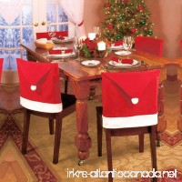 LOHOME Santa Hat Chair Covers Set of 8 PCS Santa Clause Red Hat Chair Back Covers Kitchen Chair Covers Sets for Christmas Holiday Festive Decor (8 PCS) - B0756CH1DQ