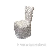 LuChuan White Rosette Banquet Chair Cover For Wedding - B01FLYHAFC