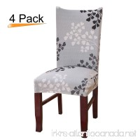 Stretch Removable Washable Short Dining Chair Protector Cover Home Decor Dining Room Seat Slipcover Set of 4 Branch - B07BVS7GLP