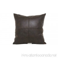 Brentwood Originals 2098 Nobuk Faux Leather Toss Pillow 17-Inch Brown - B005ASKUGG