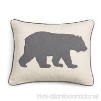 Eddie Bauer 216607 Gray Bear Twill Decorative Pillow Gray - B01JQKWG38