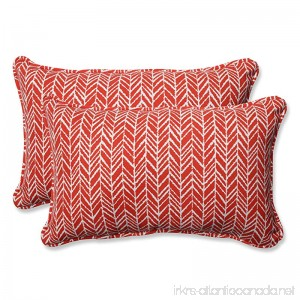 Herringbone Tomato Rectangular Throw Pillow (Set of 2) - B06XRXSY86