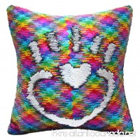 MHJY 16 x 16 Mermaid Pillow with Insert Magic Reversible Sequin Pillows Flip Sequin Pillow Color Changing Throw Pillow for Home Decor —— With Insert - B07D3SDC7T