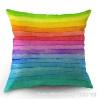 Moslion Rainbow Pillow Cover Summer Rainbow Stripes Cotton Linen Decorative Throw Pillow Case 18 x 18 Inch Standard Square Cushion Cover for Sofa Bedroom Men Women Kids Multicolor - B07DKVZ2M3