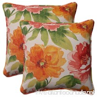 Pillow Perfect Indoor/Outdoor Primro Corded Throw Pillow  18.5-Inch  Orange  Set of 2 - B00BPU9TVA