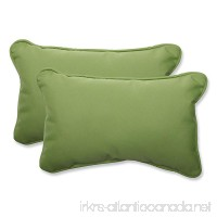 Pillow Perfect Indoor/Outdoor Rectangular Throw Pillow (Set of 2) with Sunbrella Canvas Ginkgo Fabric 18.5 in. L X 11.5 in. W X 5 in. D - B00J9B8LEI