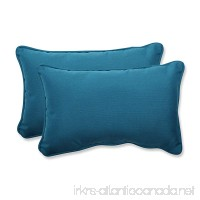 Pillow Perfect Indoor/Outdoor Rectangular Throw Pillow (Set of 2) with Sunbrella Spectrum Peacock Fabric  18.5 in. L X 11.5 in. W X 5 in. D - B00J9B975A
