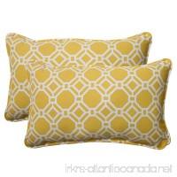 Pillow Perfect Indoor/Outdoor Rossmere Corded Rectangular Throw Pillow  Yellow  Set of 2 - B00BU6VVVK