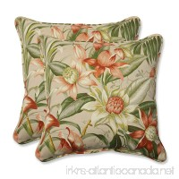 Pillow Perfect Outdoor Botanical Glow Tiger Stripe Throw Pillow  18.5-Inch  Set of 2 - B00IAI3EKM
