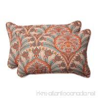 Pillow Perfect Outdoor / Indoor Crescent Beach Cayenne Rectangular Throw Pillow (Set of 2) - B01BJ6KPYO