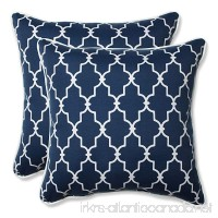 "Pillow Perfect Outdoor/Indoor Garden Gate Throw Pillow (Set of 2)  18.5""  Navy - B01BJ6LBRE"