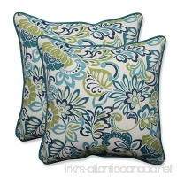 "Pillow Perfect Outdoor/Indoor Zoe Mallard Throw Pillow (Set of 2)  18.5"" - B01BJ6PEEU"