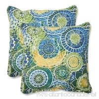 Pillow Perfect Outdoor Omnia Lagoon Throw Pillow 18.5-Inch Set of 2 - B00HVEMD2G
