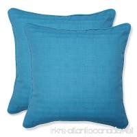 Pillow Perfect Outdoor Veranda Turquoise Throw Pillow  18.5-Inch  Set of 2 - B00J9BA2VI