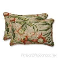 Pillow Perfect Rectangular Outdoor Botanical Glow Tiger Stripe Throw Pillow Set of 2 - B00IAI3EAC