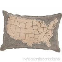 Primitives by Kathy Cotton USA-Cream Canvas Throw Pillow  10 x 15-Inch - B0127IOJ0E