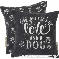 Primitives by Kathy Decorative Love and a Dog Chalk Throw Pillow  10-Inch Square - B071S688T6