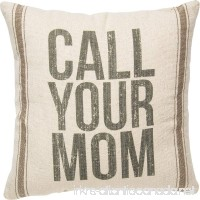Primitives by Kathy Vintage Flour Sack Style Throw Pillow Call Your Mom - B071SLKC87