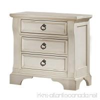 American Woodcrafters Heirloom Nightstand  Antique White - B00A2XQ2BG