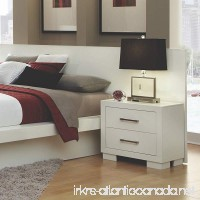Coaster Home Furnishings 203090KW Contemporary Nightstand  White - B00S0R40TM