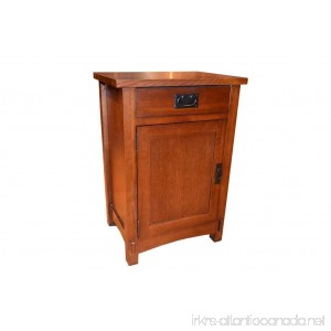 Crafters and Weavers Arts and Crafts Mission Oak Nightstand End Table/Bedside Table - B01HIYNH64