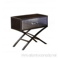 Furniture of America Nervus Nightstand with Metallic Face Drawer Gun Metal Finish - B00HH44ZCQ