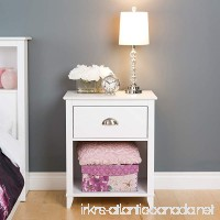 Prepac Yaletown 1 Drawer Tall Nightstand  White - B01FJCF2K6