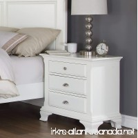 Roundhill Furniture Laveno 012 White Wood 3-Drawer Night Stand - B00BK7ST6E