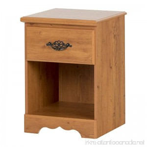 South Shore Prairie Collection Nightstand Country Pine with Antique Handles - B000CS0CL2