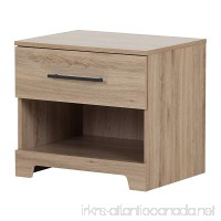 South Shore Primo 1-Drawer Nightstand  Rustic Oak - B076MHW2J7