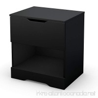 South Shore Trinity 1-Drawer Nightstand  Pure Black with Cut-Out Handles - B008PQKD1M