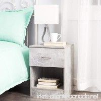 The Yak About It Standard Nightstand - Marble Gray - B07DGJ6XG9