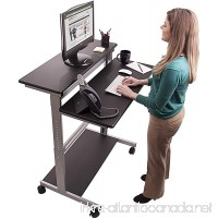 40 Black Shelves Mobile Ergonomic Stand Up Desk Computer Workstation - B00H3MGJMG