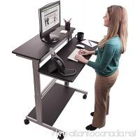 """40"""" Black Shelves Mobile Ergonomic Stand Up Desk Computer Workstation - B00H3MGJMG"""