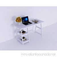 """Amayo Home Wood Computer Desk  Laptop PC Table with 2 Storage in White color 47"""" Long 20"""" Wide 29"""" High. Sturdy  Simple Writing Workstation Desk for Office  Nice Study Table for Pupils  Students - B075HB9F9B"""