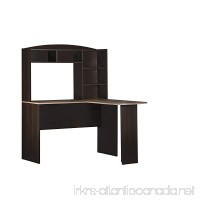 Ameriwood Home Dakota Space Saving L Desk with Hutch Espresso/Rustic Medium Oak - B01K7TUBQG