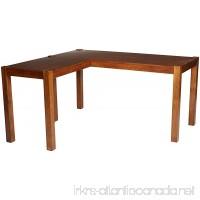 Ashley Furniture Signature Design - Lobink L-Shaped Home Office Desk - Contemporary - Brown Finish - B01ERJGZRG
