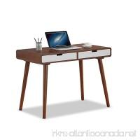 Baxton Furniture Studios Casarano Two-Tone Finish 2 Drawer Wood Home Office Writing Desk  Dark Walnut/White - B01892M4U4