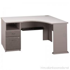 Bush Business Furniture Series A Single 2 Drawer Pedestal Corner Desk Pewter - B01FNVMTX6