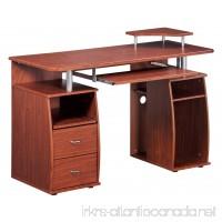 Complete Computer Workstation Desk With Storage. Color: Mahogany - B001BBKPIY