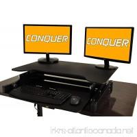 Desktop Tabletop Standing Desk Adjustable Height Sit to Stand Ergonomic Workstation - B01MY2GBEM
