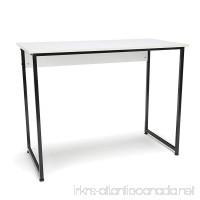 Essentials Office Desk with Metal Legs - Modern Computer Desk and Workstation  Black/White (ESS-1040-BLK-WHT) - B076CVSCWB