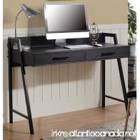 Homestar Rosalind Writing Desk with 2 Drawers in Dark Oak Finish - B06Y1BWBY1