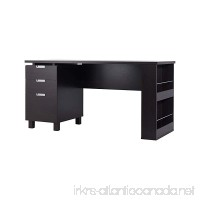ioHOMES Collin Home Office Desk with Built-in File Cabinet Espresso - B014KS6V7S
