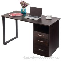 Merax Modern Simple Design Computer Desk Table Workstation with Cabinet and Drawers for Home & Office (Espresso) - B0779RFXVD