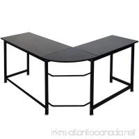ModernLuxe WF036968BAA L-Shape Home Office Corner Computer Desk PC Laptop Table Workstation Wood & Metal (Black) - B075T5Q295