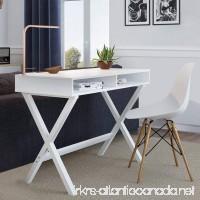 Nathan James 51002 Kalos Home Office Makeup Vanity Table Computer Desk White (Wood) - B078T3X6M8