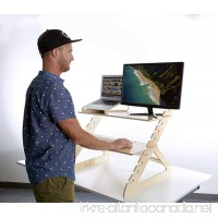 Readydesk 2 - Adjustable Standing Desk - Converts any Desk To A Dual Monitor Stand Up Desk - Designed and Made In USA of Sustainable Birch Wood - Birch Color - B015TLMIPE